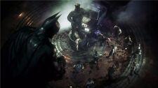 "Batman Arkham Origins City Asylum The Joker Harley Quinn Game Poster 24""x13"" 060"