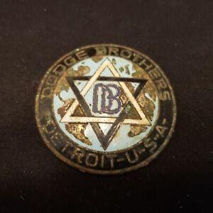 """Vintage DB Dodge Brothers Round Enamel Emblem for Car ~ 2 1/4"""" Diameter"""