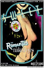 THE SWEET rare CONCERT GIG POSTER FLA GLAM ROCK 70s GLITTER ROMANTICS Naked Eyes