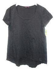 NEW FRESH PRODUCE Black A-Line Cotton Knit Top sz M