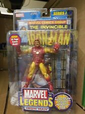 * Marvel Legends Gold Iron Man Series 1 with Comic
