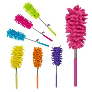 EXTENDABLE TELESCOPIC DUSTER MICROFIBRE CLEANING FEATHER BRUSH 27cm to 75cm