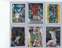 2018 Bowman Chrome Ronald Acuna Jr & 2018 Ozzie Albies RCs & Insert 6 Card Lot