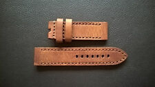 WATCH STRAP/BAND - VINTAGE PRECIOUS LEATHER-PAM-STEINHART-HELSON HANDMADE 24mm