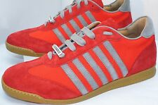 New Dsquared2 Men's Shoes Red Sneakers Tennis Size 44 Tessuto Fashion