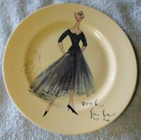 Rosanna Oooh La La French Fashion Porcelain Plate Made in Italy Beige and Black