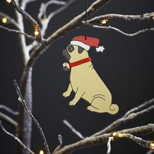 PUG DOG CHRISTMAS TREE DECORATION FAST DESPATCH UK SELLER
