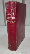 POETES D'HIER ET D'AUJOURD'HUI PAR G.WALCH LIB DELAGRAVE 1919