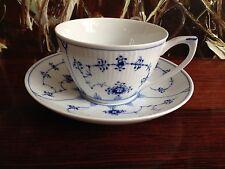 Royal Copenhagen Musselmalet A Côtes Tasse à Café avec Soucoupe 28cl Neuf