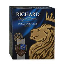 Earl Grey Richard Black Tea Royal Pack 100 Bags Russian Drinks Box Best