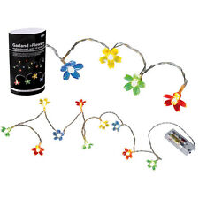 GARLAND FLOWER 10 LED LIGHTS FAIRY STRING DECORATION INDOOR BATTERY PARTY NEW