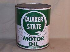 Vintage Quaker State Motor Oil 1 Gallon Can Service Station Gas Oil Decor