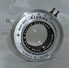 Wollensak Raptar 162mm f6.3 Lens in Alphax Shutter