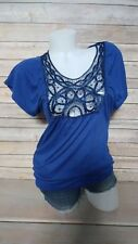 Daytrip The Buckle Royal Blue Top Size S