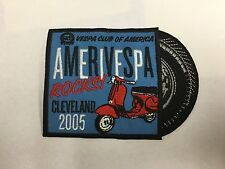Cleveland Rocks! Vespa Club of America Amerivespa 2005 embroidered scooter patch
