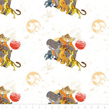 Disney The Lion Guard All for One Lite Orange 100% Cotton fabric by the yard