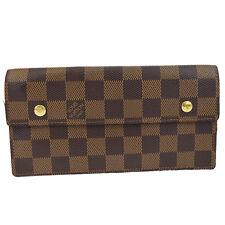 Auth LOUIS VUITTON Accordeon Bifold Wallet Purse Damier Leather BN N60002 60D769