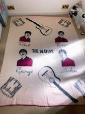 """The Beatles Official Witney Wool Blanket 57""""x76"""" Very Good Condition 1960s"""