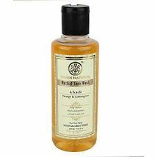 NEW Khadi Natural Orange & Lemongrass Face Wash (For Dry Skin) EACH PACK 210 ML
