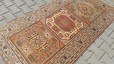 Turkish Rug 3x6ft, Oushak.vintage,anatolian,RAINBOW,home,Bohemian,handmade,wool