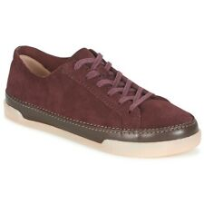Clarks Ladies Hidi Holly Burgundy Nubuck Leather Casual Pumps Shoes, UK 3.5