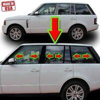 2002-2013 Land Rover Range Rover HSE 6Pc Chrome Pillar Post Stainless Steel Trim