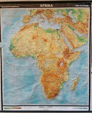 antike Schulwandkarte Rollkarte Afrika  Vintage Deko Lehrkarte Schulkarte