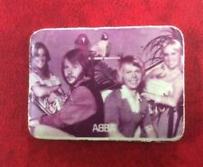 SCARCE PIN BADGE Soviet underground Made in Adler 1980 USSR Pop Music Group ABBA