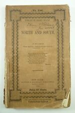 RARE 1855 NORTH and SOUTH Elizabeth GASKELL Library of Select Novels HARPER 1st