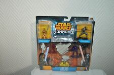JEU 12 FIGURINE & VEHICULE  STAR WARS COMMANDO FIGURE DUEL JEDI  HASBRO