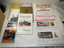 Large lot of vintage Steam Engine model catalogs, brochures: Coles, Mamod, more