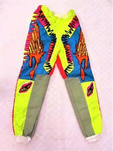 Wulfsport Kids Retro yellow blue Motocross Motorbike MX Pants size 28''