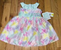 Toddler Girls Spring Dress 2t Bonnie Jean butterflies Easter Spring (NWT)