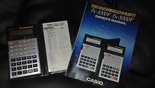 Casio fx5000F Scientific Formula 128 Calculator Vintage w/ owner's manual