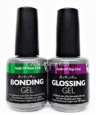 Artistic-Colour Gloss Soak Off Nail Gel- Base & Top DUO (Bonding & Glossing Gel)