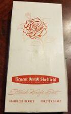 Regent Sheffield 6 Six Steak Knife Set Stainless Blade Forever Sharp with Box