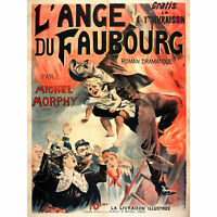 Roy Michel Morphy Novel Angel Of Faubourg Advert Wall Art Canvas Print 18X24 In