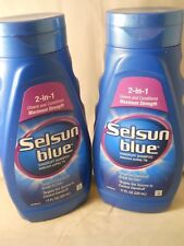 Selsun Blue 2-In-1 Maximum Strength Dandruff Shampoo 11.oz ea (2pk) exp 11-2021