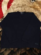 Rare VTG 90s Polo Ralph Lauren Spell Out Knit Cotton Sweater Shirt L 92 93 Bear