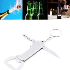 Multi-function Bottle Opener Ring Keyring Chain Keychain Bar Metal Beer Key Tool