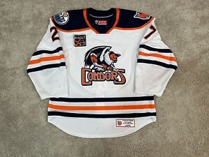 Bakersfield Condors Game Worn Used AHL Authentic Jersey CCM Quicklite 56 Oilers