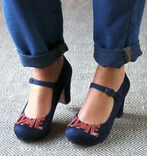 CHIE MIHARA SHOES SINAMOR HEELS PLATFORM MARY JANE PUMP LVME NEW 40 $439 NAVY