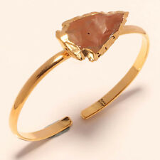 DESIGNER GOLD PLATED BANGLE JEWELRY WITH AGATE STONE SIZE ADJUSTABLE