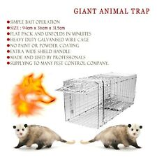 EXTRA LARGE HUMANE ANIMAL TRAP CAGE LIVE CATCH POSSUM FOX HARE FERAL RABBIT BIRD