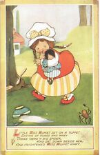 Mabel Lucie Attwell. Little Miss Muffet in Tuck Series 3376.