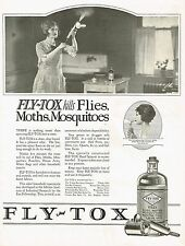 1920s BIG Original Vintage Flytox Bug Spray Insecticide Housewife Photo Print Ad