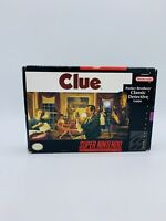 CLUE - SNES Super Nintendo AUTHENTIC Tested Working Game Complete w/ Box