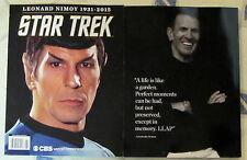 STAR TREK Commemorative Edition LEONARD NIMOY Mr. Spock  CBS Watch 2015 1931-15