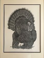 """Beautiful pen and ink print of a """"Strutting Tom"""""""