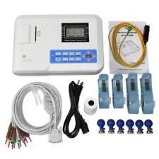 ECG Machine LCD Electrocardiograph 1 Channel  EKG Monitor 12 Leads Printer,USA